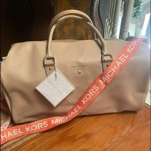 NWT Michael Kors Pink Duffel Bag